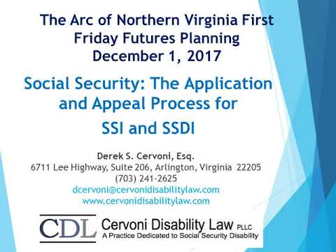 Dec. 2017 - Social Security: The Application and Appeal Process for SSI and SDI