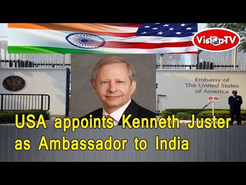 President Trump appoints Kenneth Juster  as Ambassador to India. Vision TV World.