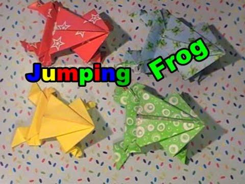 Extrem Jumping Frog / Hüpfender Frosch falten aus Papier ( Origami easy EE29