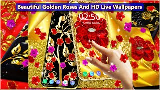 Beautiful Golden Roses and HD Wallpapers on The Background | Animation HD Live Wallpaper 💓 screenshot 4