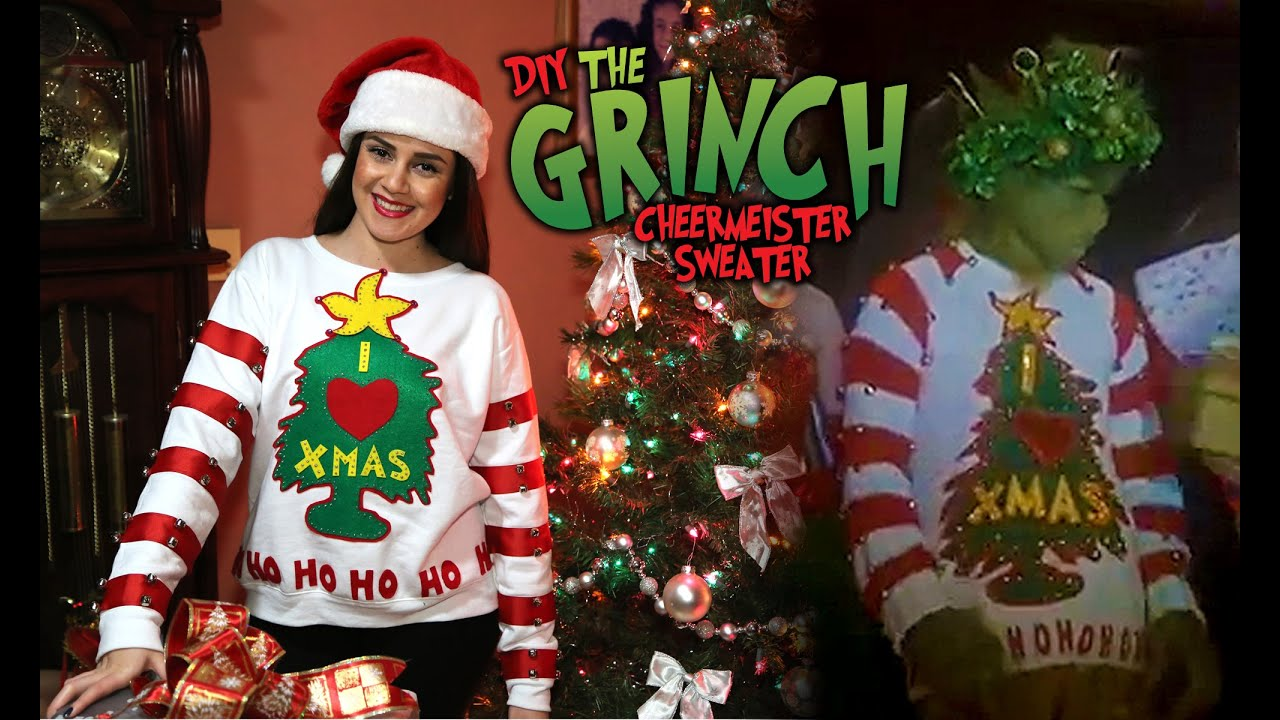 Diy The Grinch Holiday Cheermeister Sweater Lucykiins Youtube