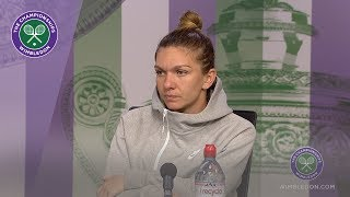 Simona Halep Quarter-Final Press Conference Wimbledon 2019
