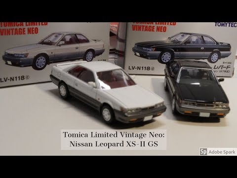 2019 Tomica Limited Vintage Neo:  F31 Nissan Leopard XS-II Grand Selection Unboxing And Review