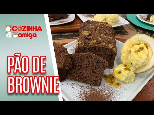 Pão Brownie com Sorvete de Maracujá - Gabriel Barone   Cozinha Amiga (05/03/19)