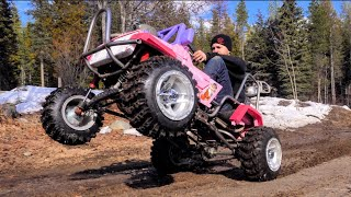 450cc Barbie Jeep Does Wheelies