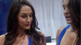 Garcia Twins (former Bella Twins) at Wizard World Chicago Comic Con 2012