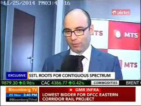 Dmitry Shukov, CEO, MTS India talking about the need to auction contiguous spectrum