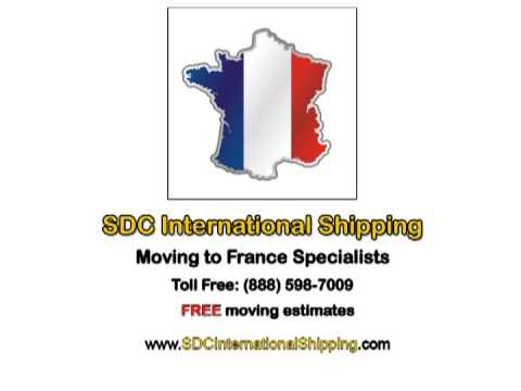 International Movers to France (888) 598-7009 | SDC International Shipping