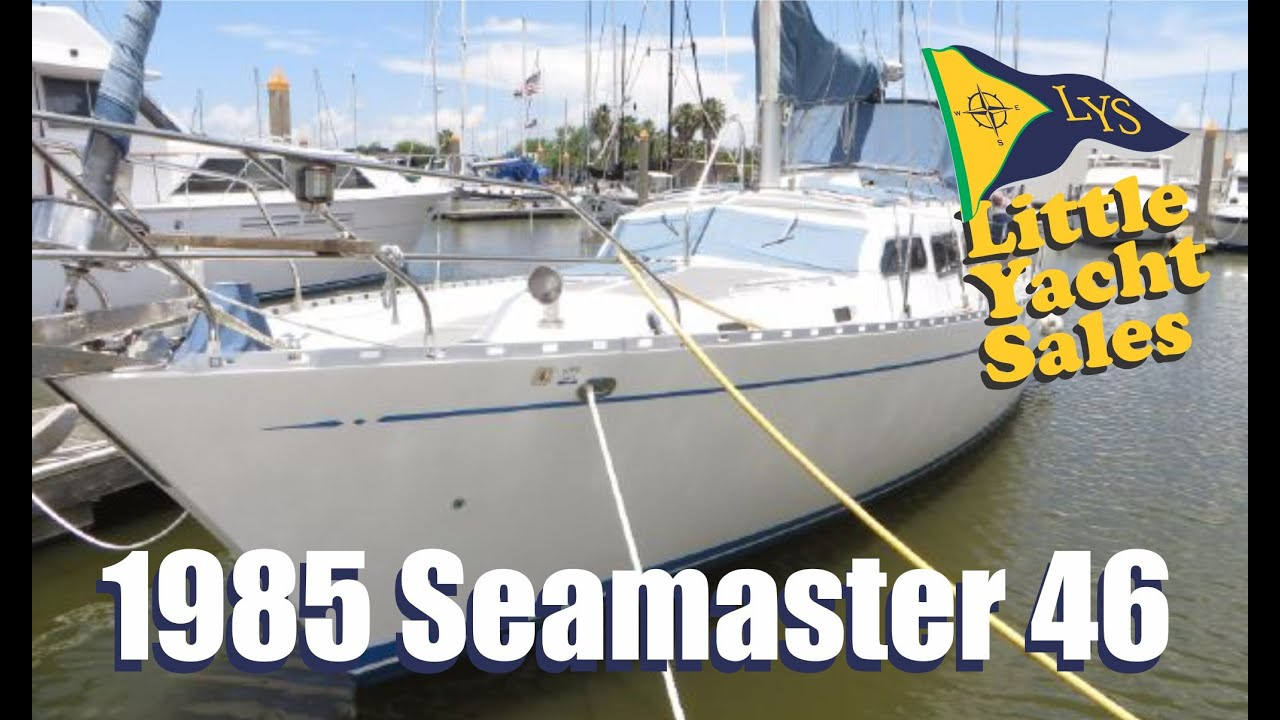 SOLD!!! 1986 Seamaster 46 Motorsailer for sale at Little Yacht Sales, Kemah  Texas