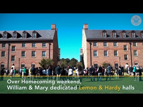 W&M Now: Dedicating Lemon & Hardy Halls