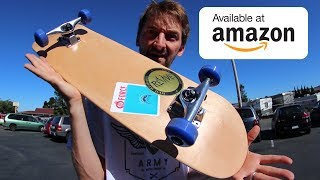 THE $60 AMAZON COMPLETE SKATEBOARD! | CHEAP SKATES EP 10