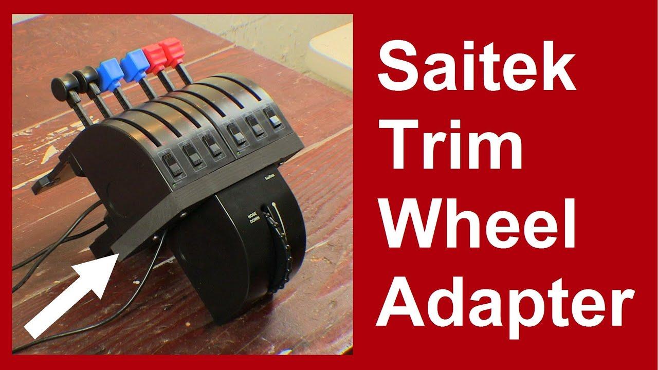 Saitek Trim Wheel Adapter