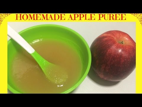 How to Make Homemade Apple Puree | Baby Food | Starting from 6 months