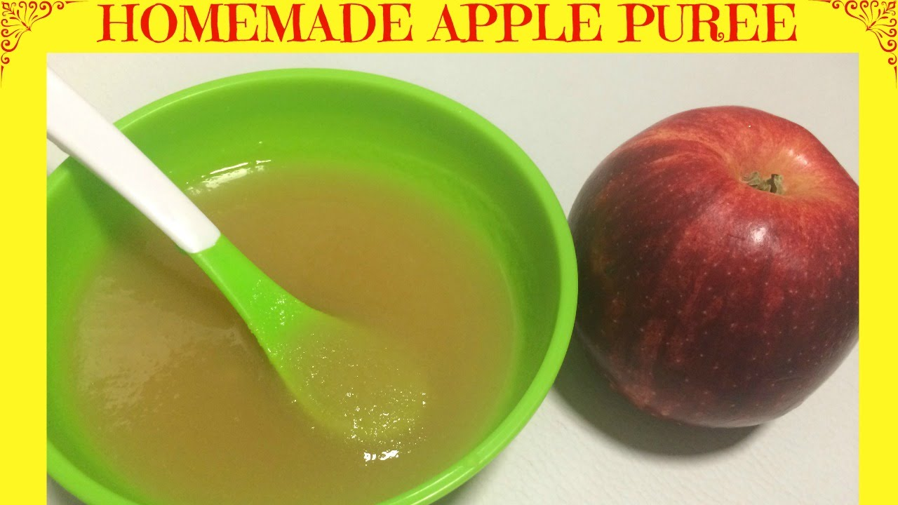 Homemade Apple Puree | Baby Food