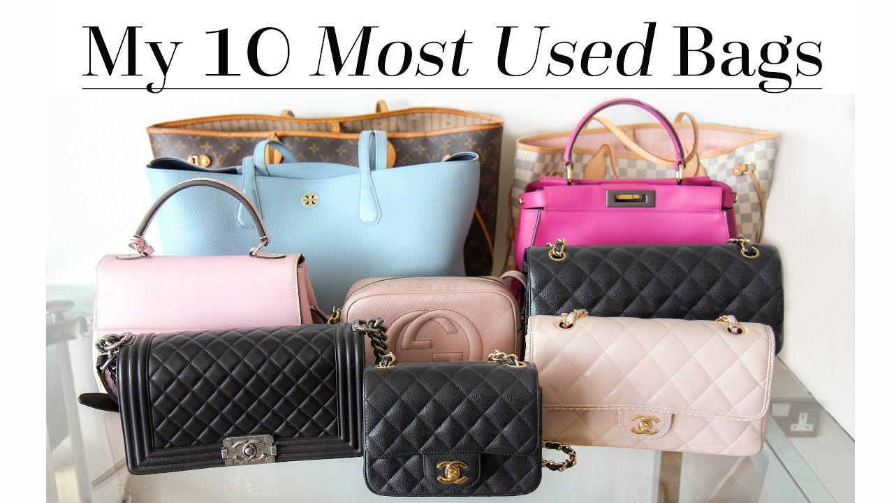 Top 10 Most Used Bags Ft Chanel Lv Tory Burch Gucci Etc