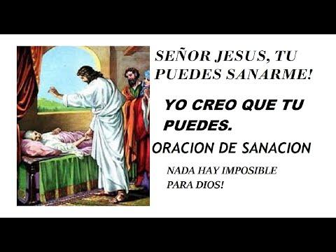 SEÑOR JESUS, TU PUEDES SANARME! YO CONFIO EN TI.