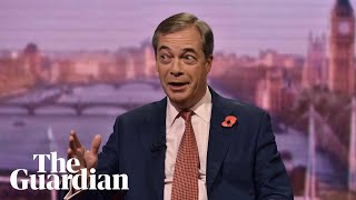 Nigel Farage says he will not stand as an MP in election