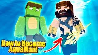 Minecraft - HOW TO SPAWN AQUAMAN! w/Tinyturtle