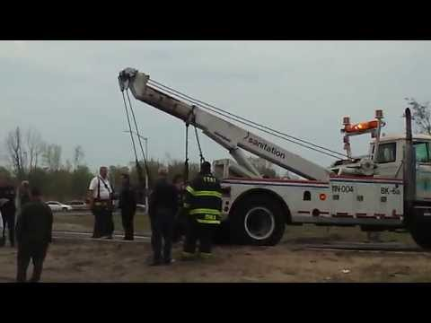 DSNY Wrecker Arriving To Assist In Removing A Stuck FDNY Engine In Sand