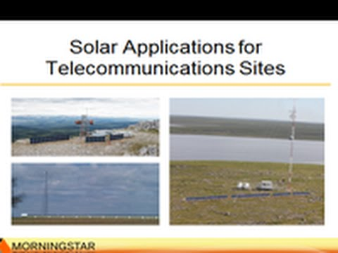 Solar for Telecommunications Applications