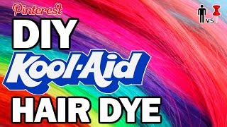 DIY KOOL AID Hair Dye - Man Vs Pin - Pinterest Test #73