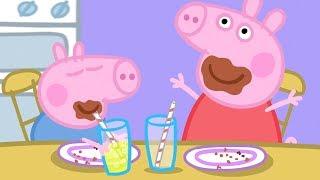 Peppa Pig en Español Episodios completos - Peppa come pastel de chocolate! - Dibujos Animados