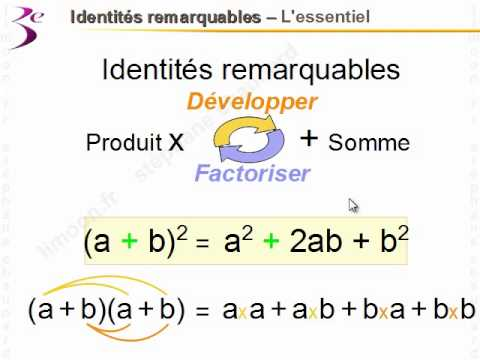 Maths 3eme Identites Remarquables Mathematiques Troisieme Youtube