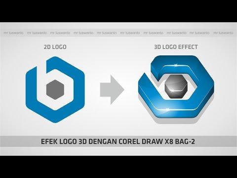 Tutorial Membuat Logo 3D dengan Corel Draw X7.