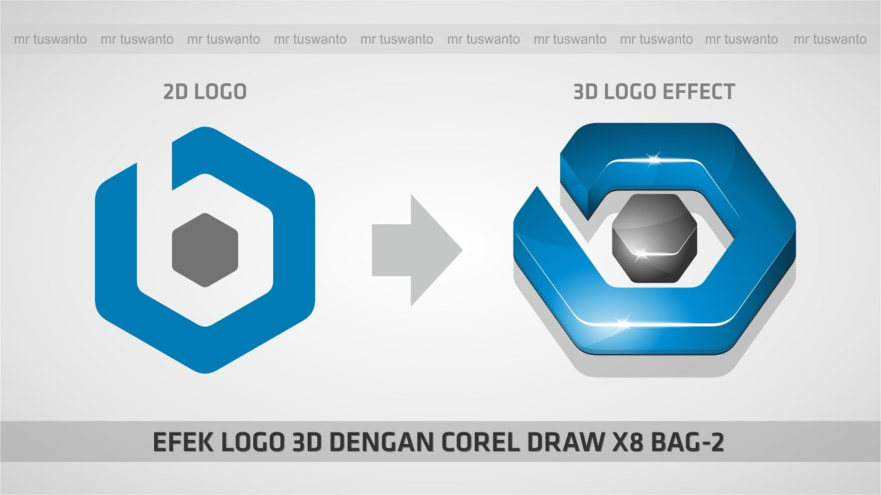 efek logo 3d dengan corel draw x8 bag 1 youtube. Black Bedroom Furniture Sets. Home Design Ideas
