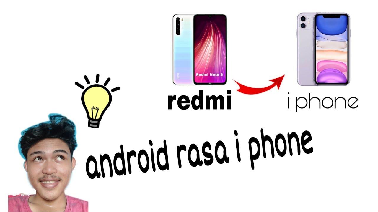 Redmi 8 - tutorial merubah notch serasa iphone | 2020 # ...
