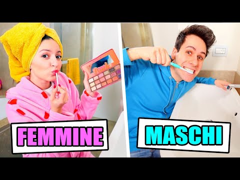 FEMMINE vs MASCHI in BAGNO!