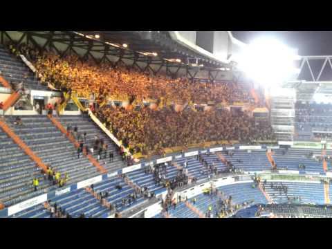 Borussia Dortmund fans celebrating in Santiago Bernabéu Stadium, 30.04.2013