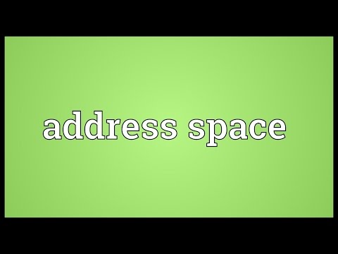 Address space Meaning