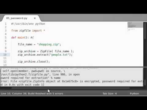 Python [zipfile] 06 Extracting with a Password