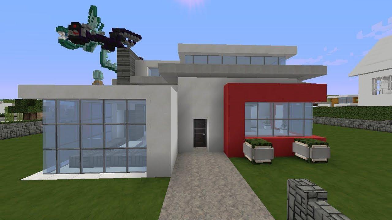 Minecraft Spielen Deutsch Minecraft Haus Ideen Anleitung Bild - Minecraft modernes haus bauen anleitung