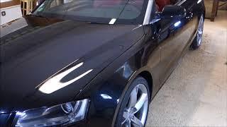 Audi A5 noir Cabriolet
