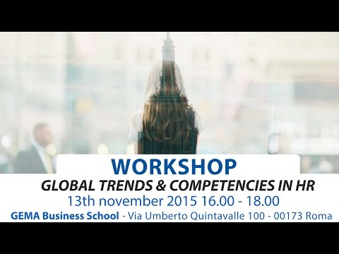 Global trends and competencies in Human Resources - Workshop GEMA