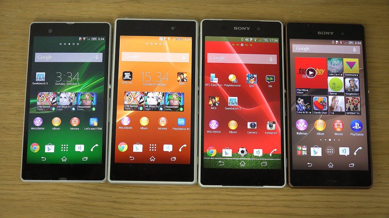Sony Xperia Z3 vs. Sony Xperia Z2 vs. Sony Xperia Z1 vs ...  Sony Xperia Z3 ...
