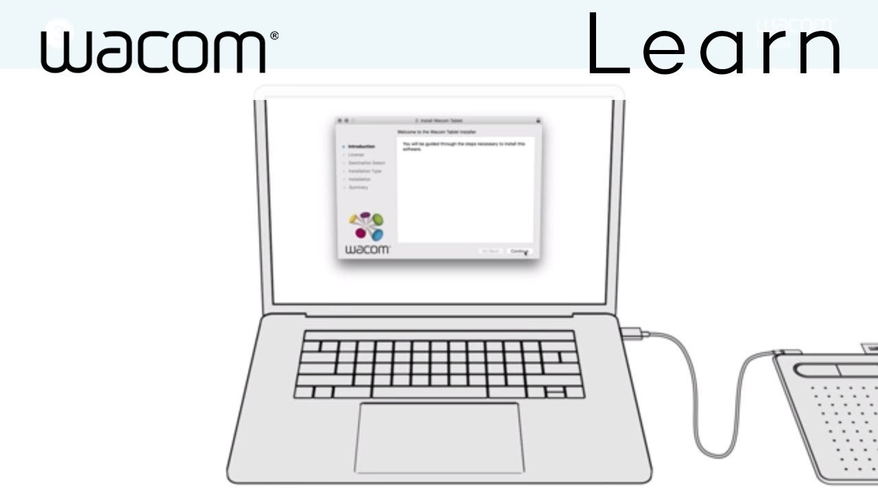 Set up your Wacom Intuos in just a few easy steps