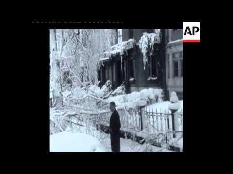 SYND 11-2-69 BOSTON SNOW SCENES