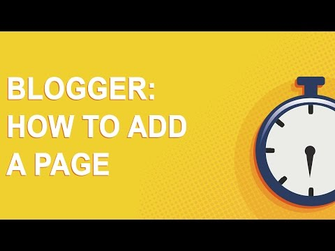 Blogger: How To Add A Page