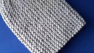 Шапка бини спицами для начинающих / Мастер класс по вязанию