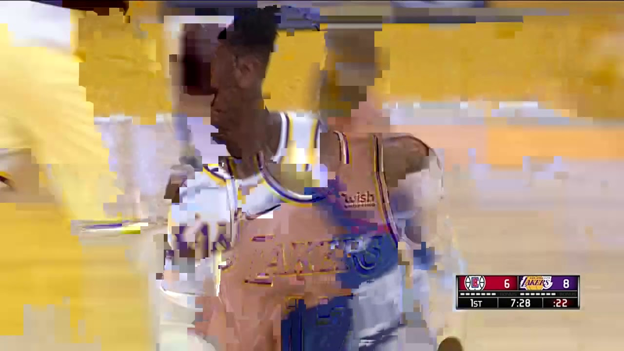 Dennis Schroder first bucket with the Lakers | Clippers vs Lakers