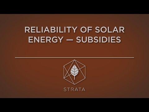 Reliability of Solar Energy — Subsidies