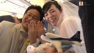 ANA & セントレア 空の上の結婚式 ~空で誓う39,000ftのバージンロード B737-700 2017/3/4
