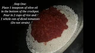 Easy Crockpot Spanish Rice & Beans