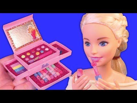 DIY Barbie Crafts and hacks~ Miniature Makeup Box, Lipgloss that work~!