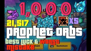 DLE HEROES 1000 Prophet Orbs 21K Branches  My BEST Pulls and WORST PO Mistake G VE HORUS