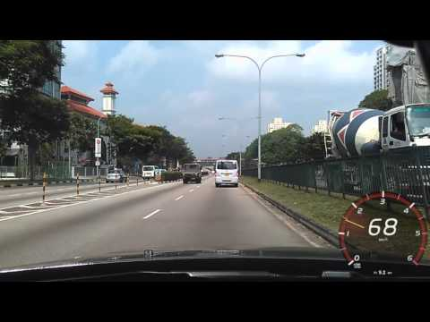 Driving in Singapore - 15 Oct 2015