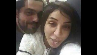 شاهد فيديو الفنانة دنيا بطمة مع زوجها محمد الترك على السرير